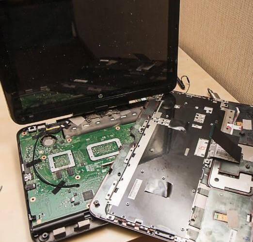 ноутбук в разобранном виде