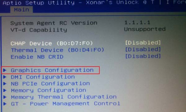 Graphics Configuration
