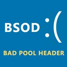 синий экран с ошибкой bad pool header