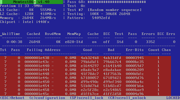 проверка модулей памяти