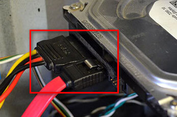 проверка подключения жесткого диска