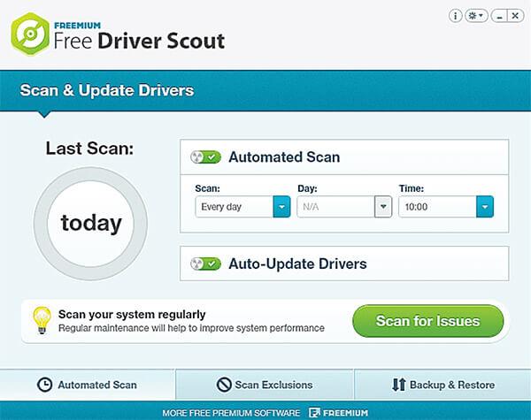 driver scout - универсальный помощник с возможность автоматического обновления