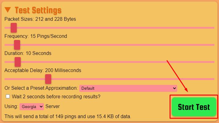 проверяем потерю интернет пакетов онлайн сервисом packetlosstest