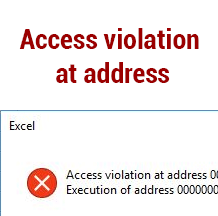 ошибка Access violation at address in module read of address