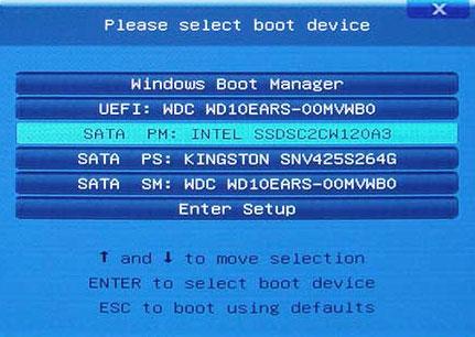 как выглядит boot menu