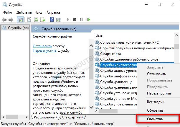 службы криптографии