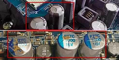 лопнувшие конденсаторы